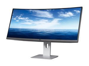 "Dell U3415W Black 34"" Curved LED Backlight Monitor 5ms GTG HDMI  IPS Built-in Speakers"