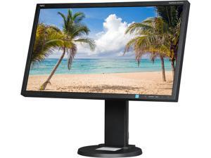 """NEC E243WMi-BK Black 23.8"""" 5ms Widescreen LED Backlight Pivot Swivel Tilt Adjustable LCD Monitor IPS"""