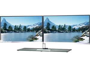 "Vizta V24DP1 Black 23.8"" 10ms HDMI Widescreen LCD Monitor Dual Screen"