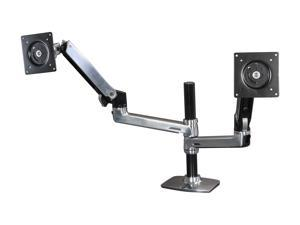 Ergotron 45-248-026 LX Dual Stacking Arm, Mounting Kit, Extends LCDs or laptop up to 25""