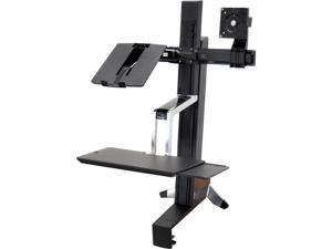 Ergotron 33-340-200 WorkFit-S, LCD & Laptop Sit-Stand Workstation