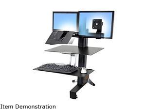 Ergotron 33-348-200 WorkFit-S, LCD & Laptop Workstation with Worksurface+