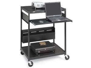 Interactive Learning Center Projector Cart w/ Powerstrip Model ECILS1FF-BK
