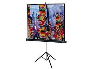 "DA-LITE Versatol Tripod Screen 60""x60"" Matte White with Keystone Eliminator 72262"