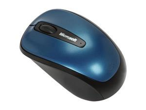 Microsoft Wireless Mobile Mouse 3500 GMF-00014 Blue 1 x Wheel USB RF Wireless BlueTrack Mouse