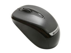 Microsoft 2EF-00002 Black 3 Buttons 1 x Wheel USB RF Wireless Optical Mobile Mouse 3000
