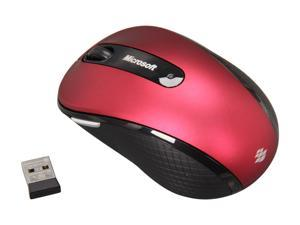 Microsoft Wireless Mobile Mouse 4000 D5D-00054 Ruby Pink RF Wireless BlueTrack Mouse