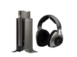 Sennheiser Silver RS 180 Circumaural Wireless Headphone w/ Transmitter