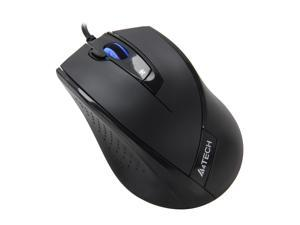 A4Tech D-730FX Black 5 Buttons 1 x Wheel USB Wired Optical 1600 dpi Mouse