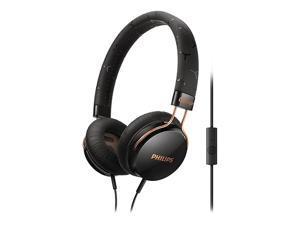 PHILIPS Black SHL5305BK/28 3.5mm Connector FIXIE Stereo Headphone W/ Mic