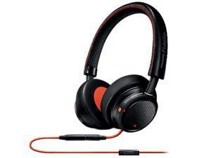 Philips M1MKIIBO/27 Fidelio Premium On-Ear Headphones w/ in-line control and mic - Black/Orange