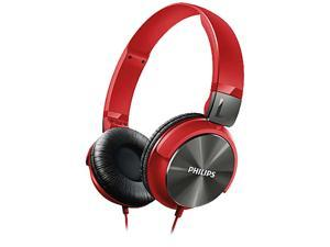 PHILIPS SHL3160RD/27 3.5mm Connector Circumaural DJ-Style On-Ear Headphones, Red