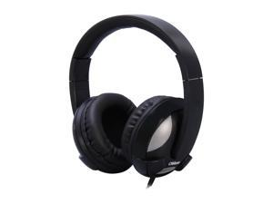 SYBA Oblanc U.F.O. 3.5mm Connector Circumaural Around-Ear Audio Headphones with In-line Microphone, BLACK