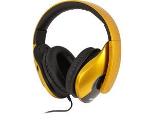SYBA Saffron Yellow OG-AUD63056 Oblanc SHELL210 Stereo Headphones Treble and Subwoofer Dual Drivers in Each Ear Cup