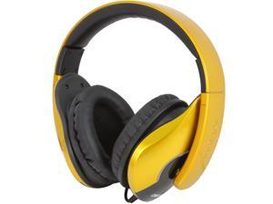 SYBA Oblanc SHELL200 Saffron Yellow OG-AUD63070 3.5mm Connector Lightweight and Comfortable Fit Audio Headphones with In-line ...