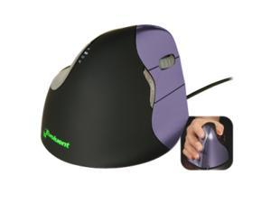 Evoluent VM4S Purple 6 Buttons 1 x Wheel USB Wired VerticalMouse 4 Small
