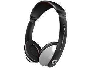 COBY CV121 Supra-aural Deep Bass Stereo Headphones with In-line Volume Control (Black)