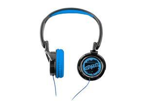COBY Blue CV400BLU Urban Style Deep Bass Headphone - Blue