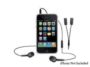 macally TunePal 3.5mm Connector Canal Stereo Hands-Free Headset and Audio Splitter for iPhone