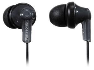 Panasonic Black RPHJE120K 3.5mm Connector Canal In-Ear Headphone