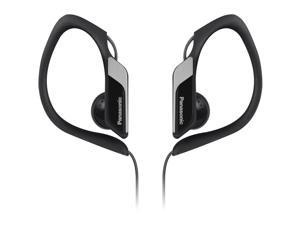 Water-Resistant Sports Clip Earbud Headphones RP-HS34-K - Black