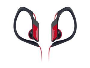Water-Resistant Sports Clip Earbud Headphones RP-HS34-R - Red