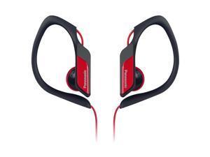 Water-Resistant Sports Clip Earbud Headphones RP-HS34-R - Red
