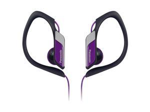 Water-Resistant Sports Clip Earbud Headphones RP-HS34-V - Purple