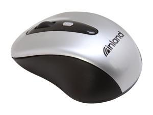 inland 7441 Black 4 Buttons 1 x Wheel USB RF Wireless Optical Mouse