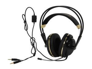 SteelSeries Siberia V2 3.5mm Connector Circumaural Full-Size Gaming Headset - Black and Gold