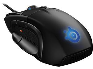 SteelSeries Rival 500 MOBA/MMO Gaming Mouse, 15 buttons, Tactile Alerts, 16000 CPI, Multicolor