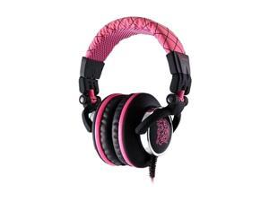 Dracco Pink HT-DRA007OEPK Circumaural High Performance Professional Headphone funky pink