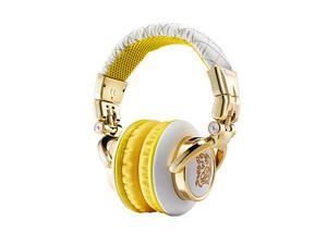 Dracco White HT-DRS007OEWH Circumaural Signature High Performance Professional Headphone elegant white
