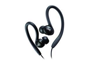JVC Black HA-EBX85-Z 3.5mm Connector Canal Ladies' Sports Clip Earphone (Black)