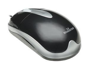 Manhattan MH3 Classic 177016 Black&White 2 Buttons 1 x Wheel USB Wired Optical Mouse