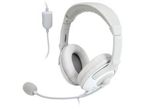 TekNmotion TM-YW100P Yapster Plus Headset for PC, MAC, Tablets and Smartphones, White