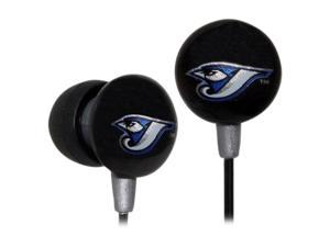 IHIP Black/Grey MLF10169TOR MLB Toronto Blue Jays Printed Ear Buds, Black/Grey