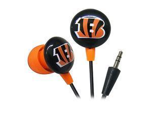 IHIP Orange/Black NFF10200CBE Cincinnati Bengals Mini Ear Buds, Orange/Black