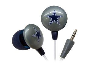 IHIP Blue/Silver NFF10200DAL Dallas Cowboys Mini Ear Buds, Blue/Silver