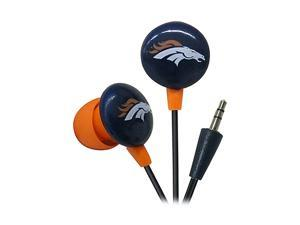 IHIP NFF10200DEB Denver Broncos Mini Ear buds, Blue/Orange