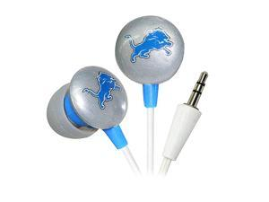 IHIP Silver/Black/Blue NFF10200DEL Detroit Lions Mini Ear Buds, Silver/Black/Blue