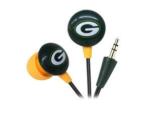IHIP Green/Yellow NFF10200GBP Green Bay Packers Mini Ear Buds, Green/Yellow