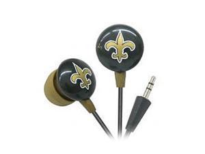 IHIP Gold/Black NFF10200NOS New Orleans Saints Mini Ear Buds, Gold/Black