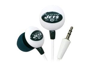 IHIP Green/White NFF10200NYJ New York Jets Mini Ear Buds, Green/White