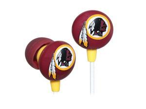 IHIP Red/Yellow NFF10200WR Washington Redskins Mini Ear Buds, Red/Yellow
