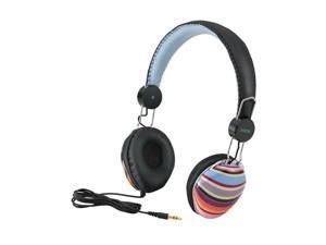 iHome Multi Stripe IB43BM Circumaural Fashion Headphones-Multi Stripe