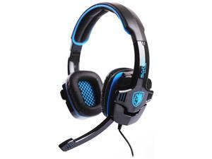 SADES SA-708 3.5mm Connector Circumaural Primary PC Gaming Headset w/ Noise Cancelling - Black/Blue