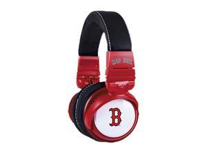 BiGR Audio XLMLBBRS2 3.5mm Connector Over-Ear Boston Red Sox Headphones with In-Line Mic