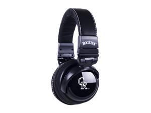 BiGR Audio XLMLBCR1 3.5mm Connector Over-Ear Colorado Rockies Headphones with In-Line Mic