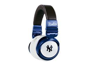 BiGR Audio XLMLBNYY2 3.5mm Connector Over-Ear New York Yankees Headphones with In-Line Mic